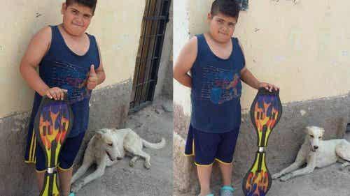 Dreng sælger sit skateboard for at købe medicin til hjemløs hund