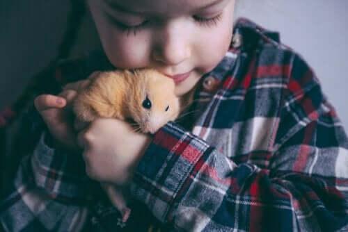 Børn kan være med til at tæmme et hamster