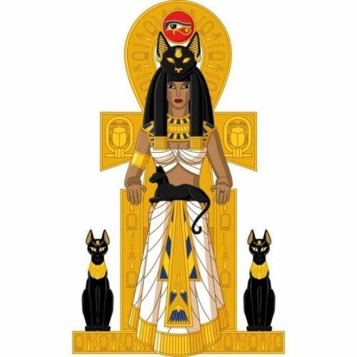 Katte i det gamle Egypten fik en relevant rolle i de forskellige grene af den egyptiske kultur, såsom religion og mytologi