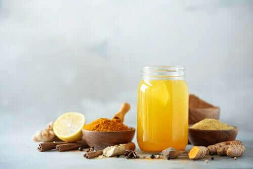 Naturligt kosttilskud til hundens led i form af citron, gurkemeje osv
