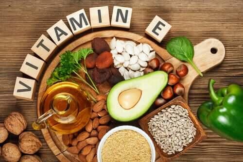 Fødevarer med E-vitamin
