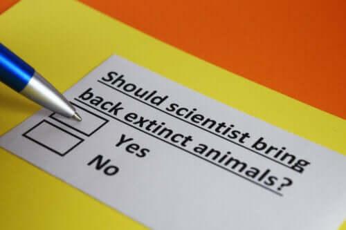 Spørgeskema om, hvor vidt man skal gendanne uddøde arter