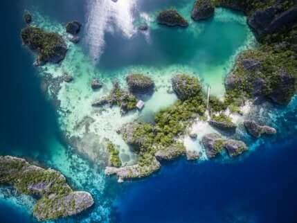 Le blanchissement des coraux visible depuis un drone.