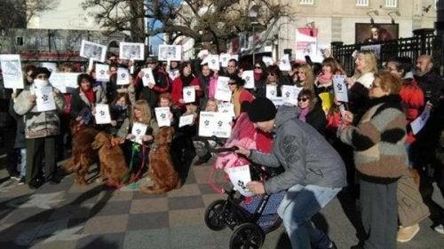 動物たちの権利を守る「行進」