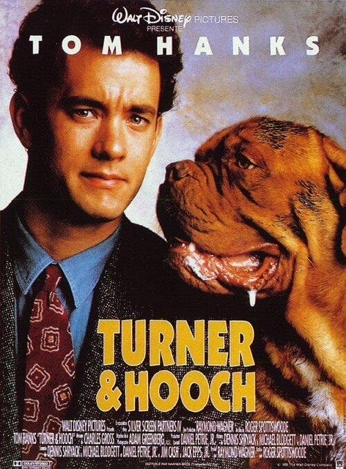 Turner and hooch, se film med med hunden