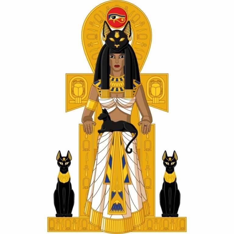 Den egyptiske gudinnen Bast