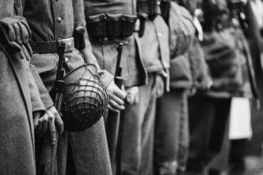 Et bilde tatt under andre verdenskrig