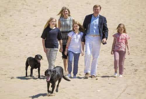 Den nederlandske kongefamilien og deres hunder