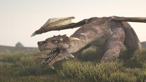 De draak, een mythologisch wezen
