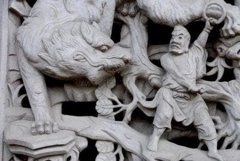 Een Chinees beeld van een tijger