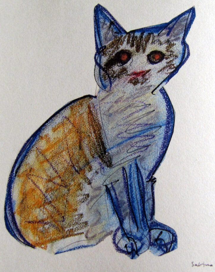 Rysunek kota autorstwa Joaquina Sabiny