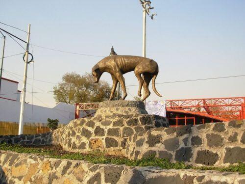 Posąg bezpańskiego psa