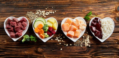Talerze z jedzeniem a dieta na problemy z nerkami