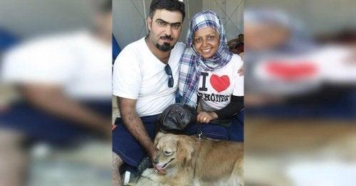 Syriska flyktingar lämnar allt – utom sina husdjur