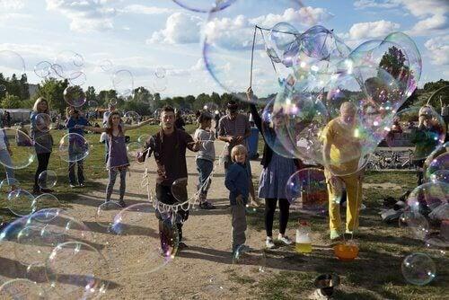 Såpbubblor och konst