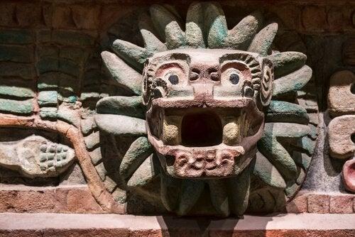 jaguaren i Aztek tempel