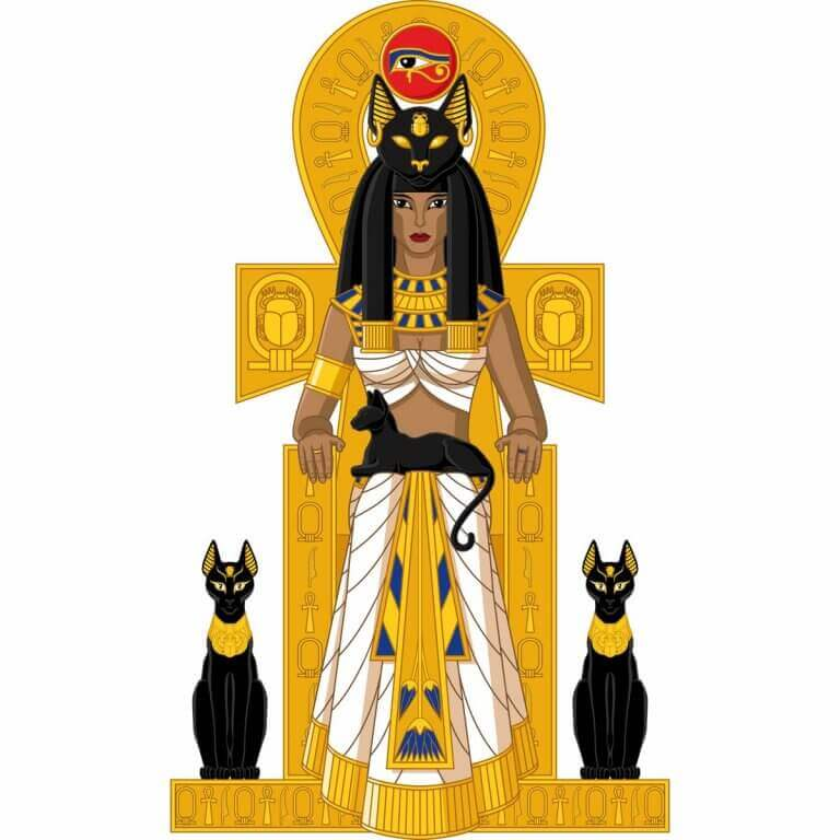 Egyptiska antika katter.