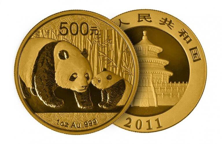 mynt med djurmotiv panda