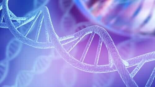 Illustration av en DNA-kedja.