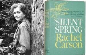 Rachel Carson med sin bok