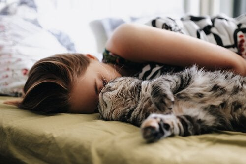 Advice for Sleeping Next to Your Cat