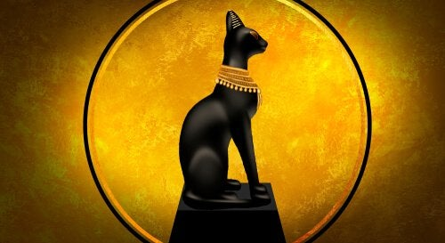 Cats in ancient Egypt were included in drawings.