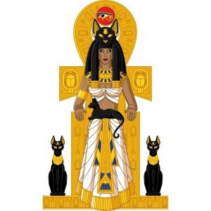 The Egyptian goddess Bastet.
