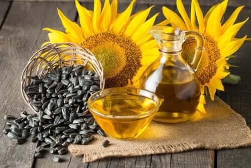 Sunflower seeds, sunflowers and sunflower oil.