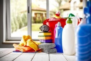 Household cleaning products.