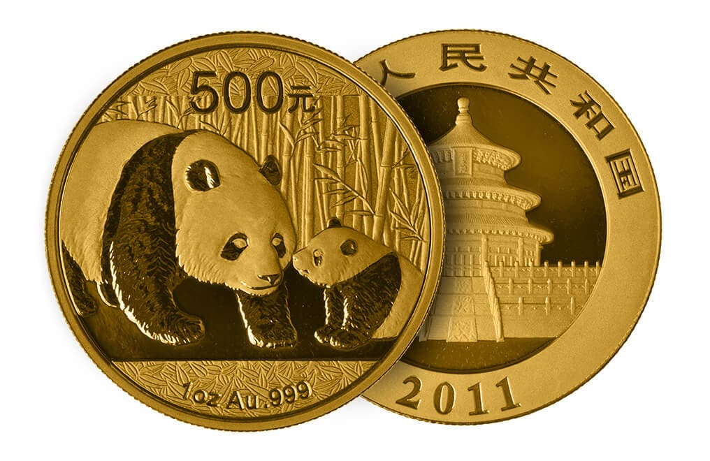 Chinese coins picturing animals typically feature pandas.