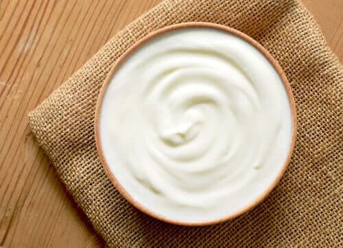 A bowl of probiotic yogurt