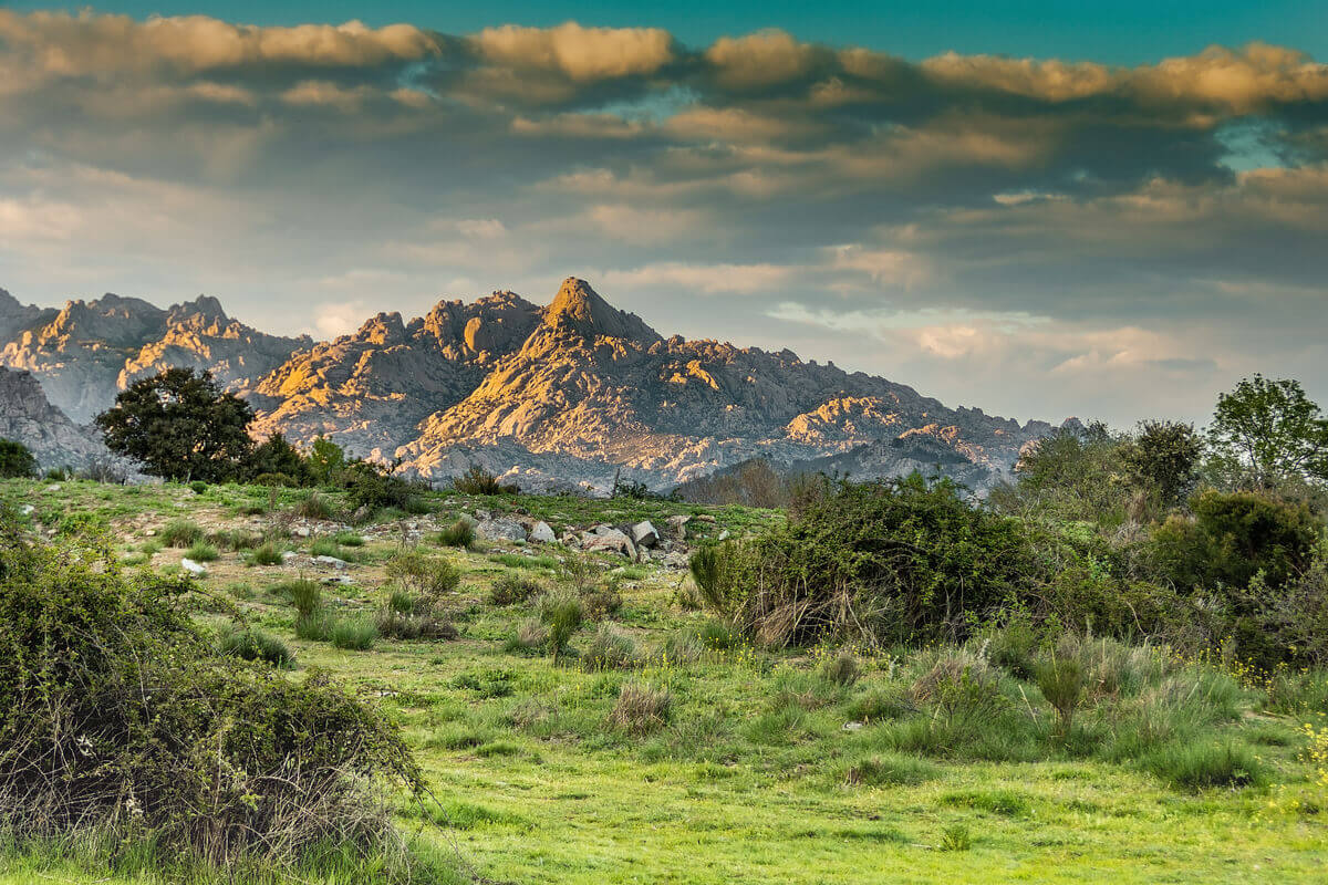 The Guadarrama mountain range of Spain.