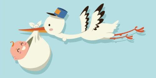 Origins of the Legend of Storks Delivering Babies
