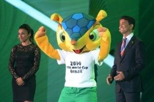 The Brazilian armadillo mascot.