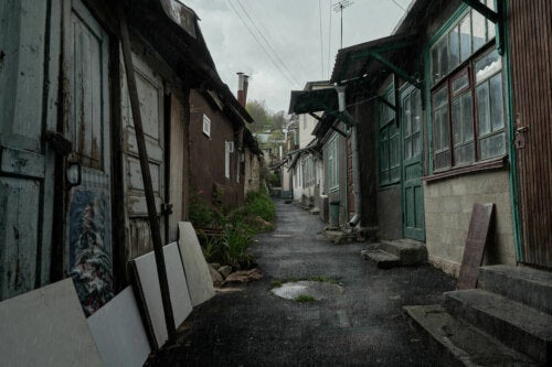 A street in Russia.