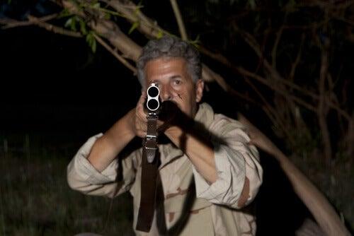 A poacher sets his sights.