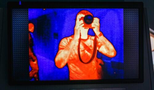 An infrared selfie.
